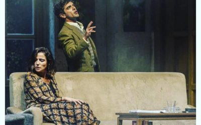 Giovanni Anzaldo on the stage directed by Luca Zingaretti